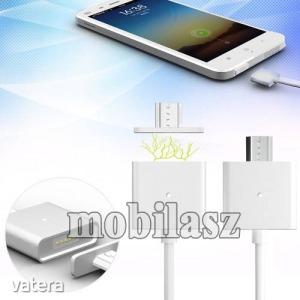 Mágneses adatátviteli kábel / USB töltő - microUSB 2.0, 1m hosszú, porvédő funkció, akár 2,4A töl...