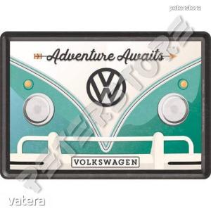 Retró Fém Képeslap - Volkswagen VW T1 Busz