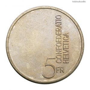 Svájc 5 Frank 1985 A zene Európai éve