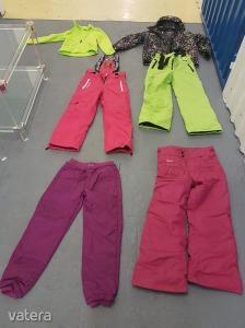 Komplett  lányka síruha szett 140-150 méretben+ samsoniste gyerek bőrönddel