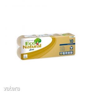 Lucart ECO Natural háztartási toalettpapír 2 rétegű, 180 lapos, 10 tekercses, 12 csomag/zsák