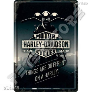 Retró Fém Képeslap - Harley-Davidson Motor