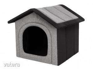 Inari szivacs kutyaház - világosszürke, fekete - 45x44x38cm
