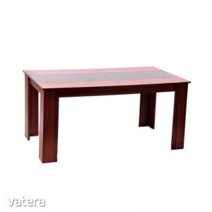Laura étkezőasztal üvegbetéttel - 160x90x76 cm