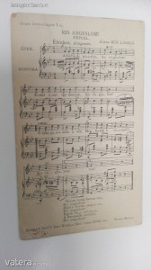 Zenés levelez?lapok 7. sz. ( Kis angyalom! népdal) (*45)