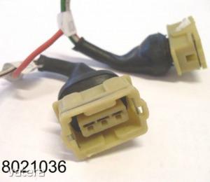Elektromos csatlakozóház (csoki)  HALL-jeladóhoz 3k,  vezetékkel