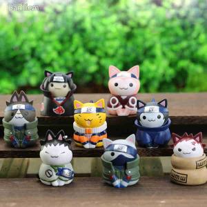 Naruto anime figura szett 8db ninja cica tortadísz ÚJ KÉSZLETEN Uzumaki Uchiha Itachi Sasuke