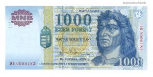 2003 1000 forint DB alacsony sorszám UNC