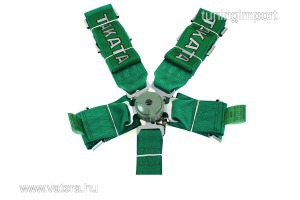 Racing Biztonsági övek 5p 3 zöld - Takata Replica