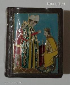 IV. Béla király - Sorszámozott minikönyv tűzzománc plakettel - Király Éva 1991 - 38 x 48 mm