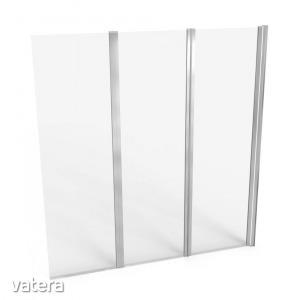 Paraván fürdőkádhoz JY - 888, 140 x 140 cm, 3 panel