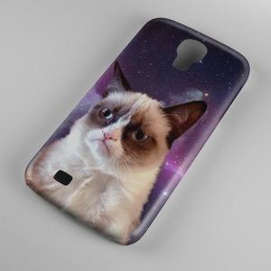 Grumpy cat mintás Samsung Galaxy S4 tok hátlap