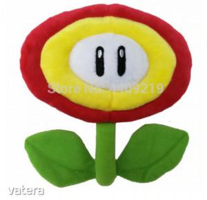 Sárga plüss virág - Super Mario - Nintendo - ÚJ