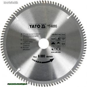 YATO 6095 Körfűrész tárcsaAlu-hoz 250x30x3.0x2.2mm 100T YT-6095