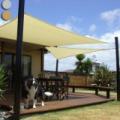 Napvitorla - árnyékoló, teraszra és kertbe négyzet alakú 3x4m