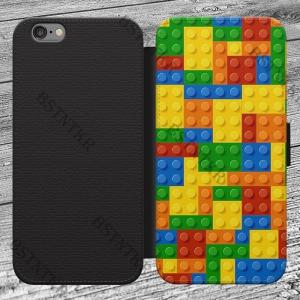 Lego mintás Huawei P10 Lite kinyitható flip flipes tok oldalra nyíló