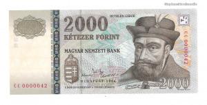 2004 2000 forint CC alacsony sorszám UNC