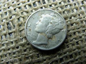 Ezüst , USA 10 cent 1945  , dime