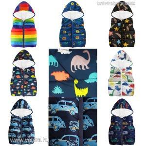 gyerek,baba,átmeneti kabát,dzseki,meleg mellény,fiú,dínó,dinoszaurusz,autó