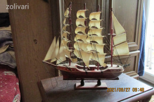 vitorlás hajómakett 1.