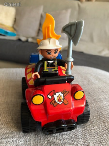 Lego duplo Tűzoltó autó figurával, Szép új állapotban!