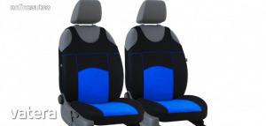 Univerzális trikó üléshuzat pár Tuning 100% velúr kék fekete színben