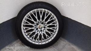 Bridgestone, Blizzak 235/45 R18 4 db téli gumi felnivel,kiváló állapotban Alfa Romeo