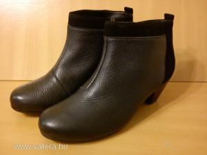 Új női fekete bőr bokacsizma d874963297