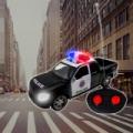 RC távirányítós rendőrautó - sziréna hang- és fényeffektekkel