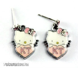 Hello Kitty Fülbevaló - Szivecskés ( 1 pár )