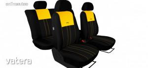 Univerzális Üléshuzat Tuning Due velúr szövet és kárpit kombináció fekete és sárga színben
