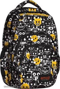 Emoji Black and White hátizsák, iskolatáska - 4 rekeszes (242090)