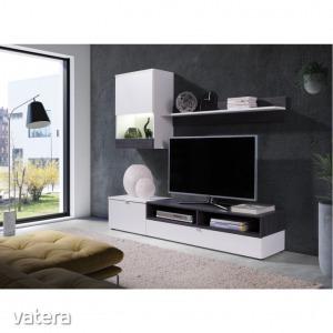 Nappali bútor, fehér/sosna sötét, ROSO (Nappali bútor,)