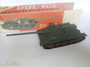 Szovjet orosz régi fém SU-100 [1:43 méretű] modell CCCP