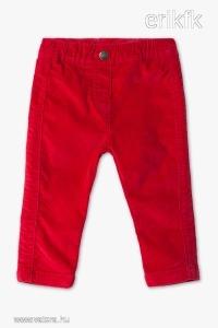 ÚJ C&A 80-as piros leggings, bársonyos tapintású
