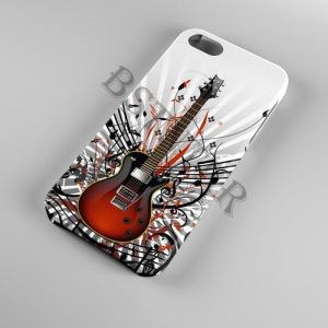 gitár mintás LG Q6 tok hátlap tartó