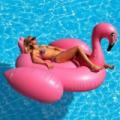 Felfújható óriás matrac flamingó 195x200x120 cm
