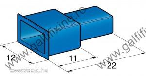 Műanyag szigetelő 6,3 mm-s csúszóérintkező dugóhoz (160165)