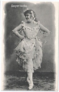 Szoyer Ilonka, színészlap, 1905 körül