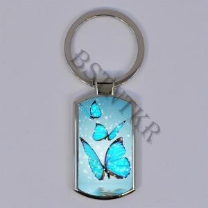 pillangós pillangó mintás elegáns fém kulcstartó