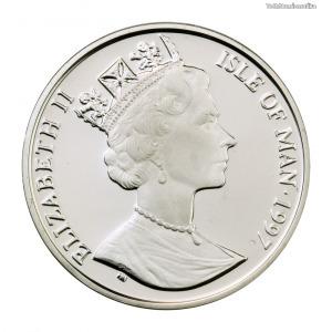 Man-sziget ezüst 10 Euró 1997 PP
