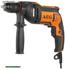 AEG SBE 750 RE_750 W ütvefúró gyorstokmánnyal, koffer, pótfogantyú, mélységmérő, 4 m kábel 493544...