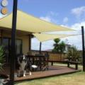 Napvitorla - árnyékoló, teraszra és kertbe négyzet alakú 3x3m