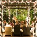 100 LED-es napelemes kerti fényfüzér- 10 méter, színes
