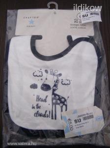 Crafted márkájú 2 db-os kisfiú bébi előke EREDETI, ÚJ termék raktárról