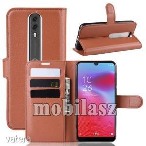 Vodafone Smart V10, WALLET notesz mobiltok, Barna