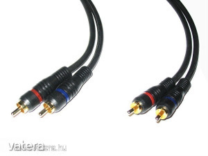 Audio kábel: RCA / RCA - Aranyozott OFC - 2m