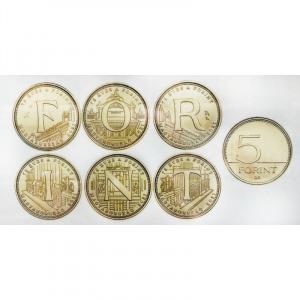 Magyarország, 5 forint 2021 - 75 éves a forint teljes sor aUNC+