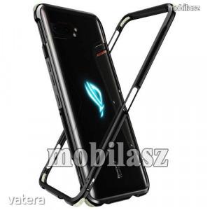 Alumínium védő keret - BUMPER, erősített sarkok, CSAK KERET! - FEKETE - ASUS ROG Phone 3 (ZS661KS...