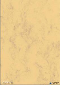 Előnyomott papír, kétoldalas, A4, 200 g, SIGEL, homokbarna, márványos